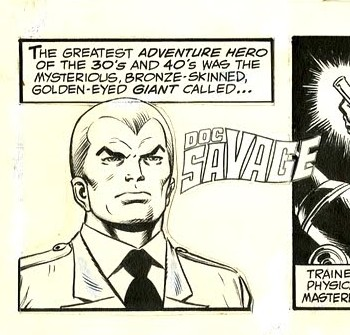 Doc Savage on the Funny Pages
