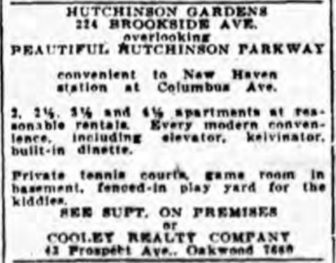 1933 Ad for Hutchinson Gardens